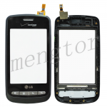 Touch Screen Digitizer with Front Cover and Keypad for LG Optimus S  LS670