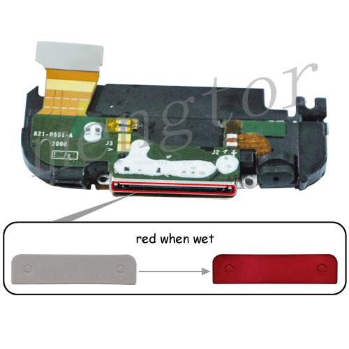 iphone water damage indicator charging port indicator sticker for iphone 3g 3gs 1968