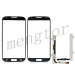 Touch Screen Glass with Home Button Flex Cable for Samsung Galaxy S4 - Blue