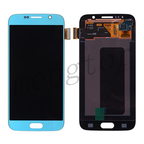 OLED Screen Digitizer Assembly for Samsung Galaxy S6 G920(Service Pack)(for SAMSUNG) - Blue Topaz