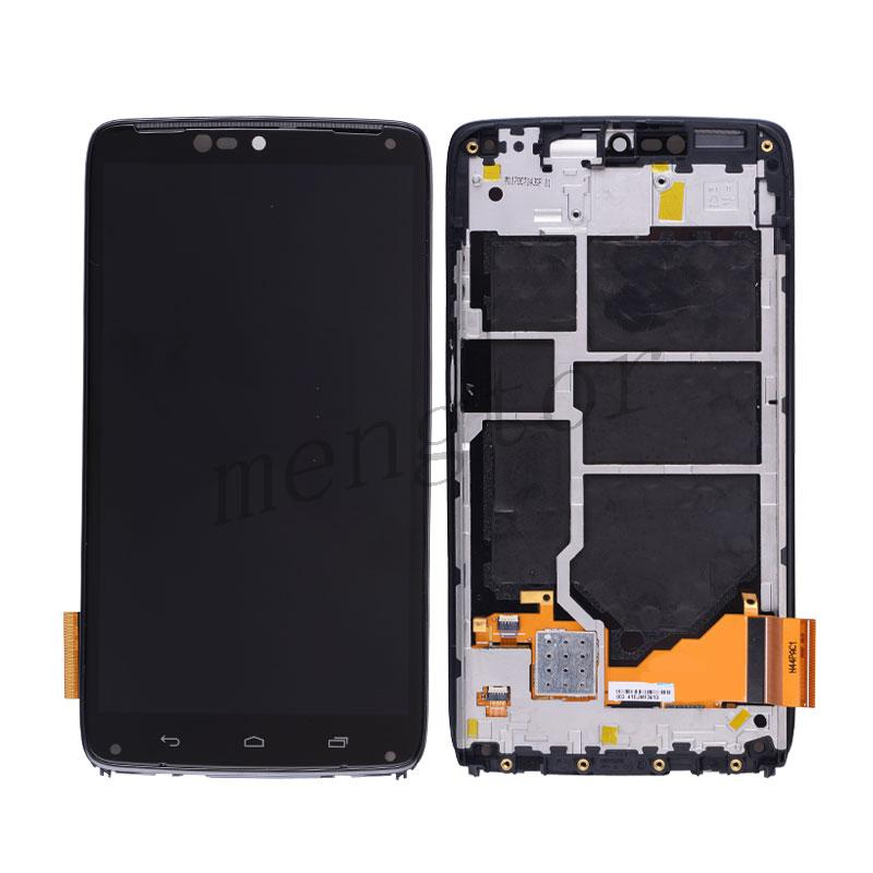 LCD Screen Display with Touch Digitizer Panel and Frame for Motorola Droid Turbo XT1254/ XT1225 - Black