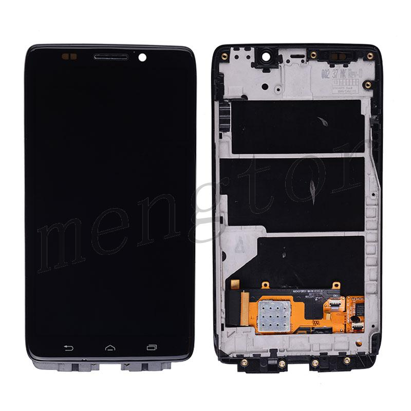 LCD with Touch Screen Digitizer with Bezel Frame for Motorola Droid Ultra XT1080/ Droid Maxx XT1080m-Black