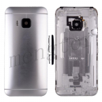 Back Cover With Camera Lens and Flash Light Lens,Power & Volume Buttons for HTC One M9 (for HTC)  - Silver