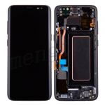 LCD Screen Display with Digitizer Touch Panel and Bezel Frame and Earpiece Speaker,Front Camera Module for Samsung Galaxy S8 G950U (Black Frame)  - Black