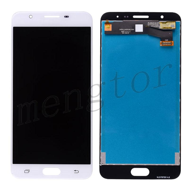 LCD Screen Display with Digitizer Touch Panel Assembly for Samsung Galaxy J7 Prime G610F G610K G610L G610S G610Y, On Nxt G610FZ (for Samsung) - White