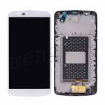 LCD Screen Display with Digitizer Touch Panel and Bezel Frame for LG K10/ K410/ K420N/ K428/ K430/ K430DS/ K430DSF - White