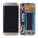 LCD Screen Display with Digitizer Touch Panel and Bezel Frame for Samsung Galaxy S7 Edge G935A (for SAMSUNG) - Gold