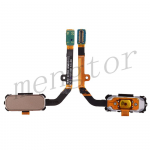 Home Button with Flex Cable, Connector and Fingerprint Scanner Sensor for Samsung Galaxy S7 Active G891 - Gold