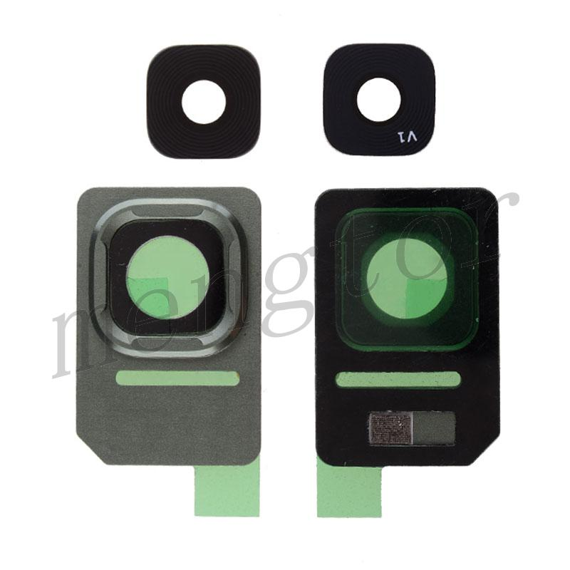 Rear Camera Glass Lens and Cover Bezel Ring for Samsung Galaxy S7 Active G891 - Green
