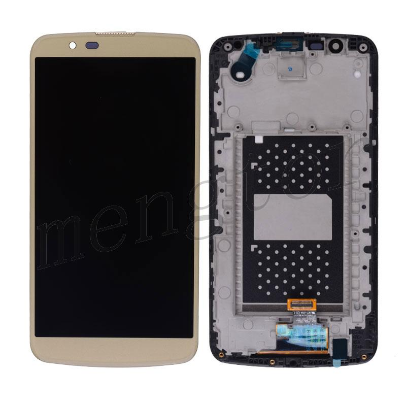 LCD Screen Display with Digitizer Touch Panel and Bezel Frame for LG K10/ K410/ K420N/ K428/ K430/ K430DS/ K430DSF - Gold