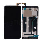 LCD Screen Display with Digitizer Touch Panel Assembly and Bezel Frame for ZTE Zmax Pro Z981 - Black