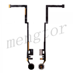 Home Button Connector with Flex Cable Ribbon for iPad 5 (2017)/ iPad 6 (2018) - Black