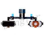 Home Button Key With Flex Cable for Samsung Galaxy J7 Prime G610F G610K G610L G610S G610Y, On Nxt G610FZ - Black
