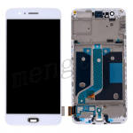 LCD Screen Display with Touch Digitizer and Frame for OnePlus 5 A5000 - White