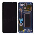 LCD Screen Display with Digitizer Touch Panel and Bezel Frame for Samsung Galaxy S9 G960(Blue Frame) - Black