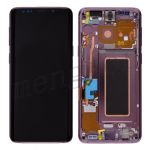 LCD Screen Display with Digitizer Touch Panel and Bezel Frame for Samsung Galaxy S9 G960(Purple Frame) - Black