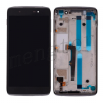 LCD Screen Display with Touch Digitizer Panel and Frame for Alcatel One Touch Idol 4 6055 - Black