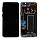 LCD Screen Display with Digitizer Touch Panel and Bezel Frame for Samsung Galaxy S9 G960(Gray Frame) - Black