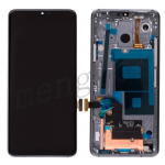 LCD Screen Display with Touch Digitizer Panel and Bezel Frame for LG G7 ThinQ LM-G710(Gray Frame) - Black