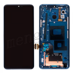 LCD Screen Display with Touch Digitizer Panel and Bezel Frame for LG G7 ThinQ LM-G710(Blue Frame) - Black