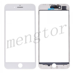 3 in 1 Front Screen Glass Lens with LCD Digitizer Frame and OCA for iPhone 8 Plus (5.5 inches) - White