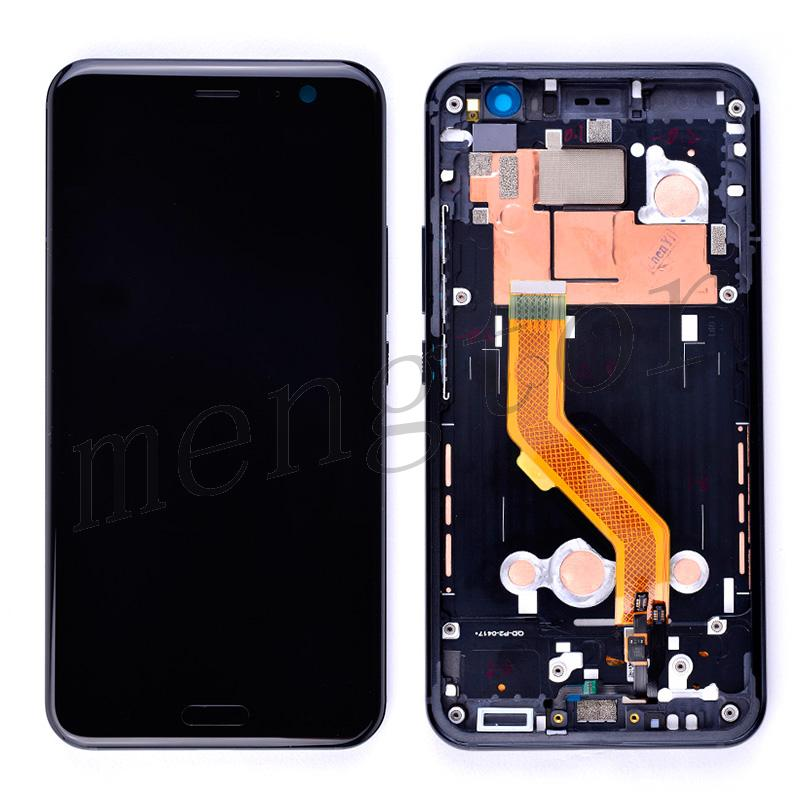 LCD Screen Display with Touch Digitizer Panel and Bezel Frame for HTC U11(Black Frame) - Black