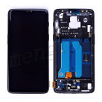 LCD Screen Display with Digitizer Touch Panel and Bezel Frame for OnePlus 6 - Black