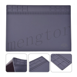 250x350mm Magnetic Heat Insulation Silicone Pad Mat Platform for Mobile Phone Repair - Gray