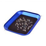 Aluminum Alloy Magnetic Screw Tray Plate for Mobile Phone Repair - Blue