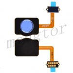 Home Button with Flex Cable,Connector and Fingerprint Scanner Sensor for LG Stylo 4 Q710 - Blue