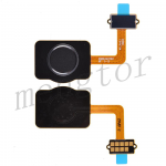 Home Button with Flex Cable,Connector and Fingerprint Scanner Sensor for LG Stylo 4 Q710 - Black