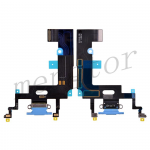 Charging Port with Flex Cable for iPhone XR(6.1 inches)(Super High Quality)  - Blue