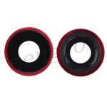 Rear Camera Glass Lens and Cover Bezel Ring for iPhone XR - Red