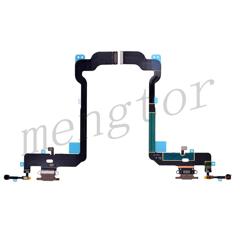 Charging Port with Flex Cable for iPhone XS(5.8 inches)(Super High Quality) - Brown