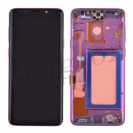 LCD Screen Display with Digitizer Touch Panel and Bezel Frame for Samsung Galaxy S9 Plus G965(Purple Frame) - Black
