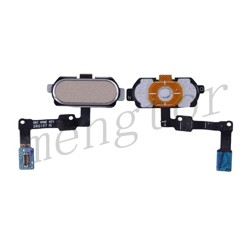 Home Button Key With Flex Cable for Samsung Galaxy J7 Prime G610F G610K G610L G610S G610Y, On Nxt G610FZ - Gold