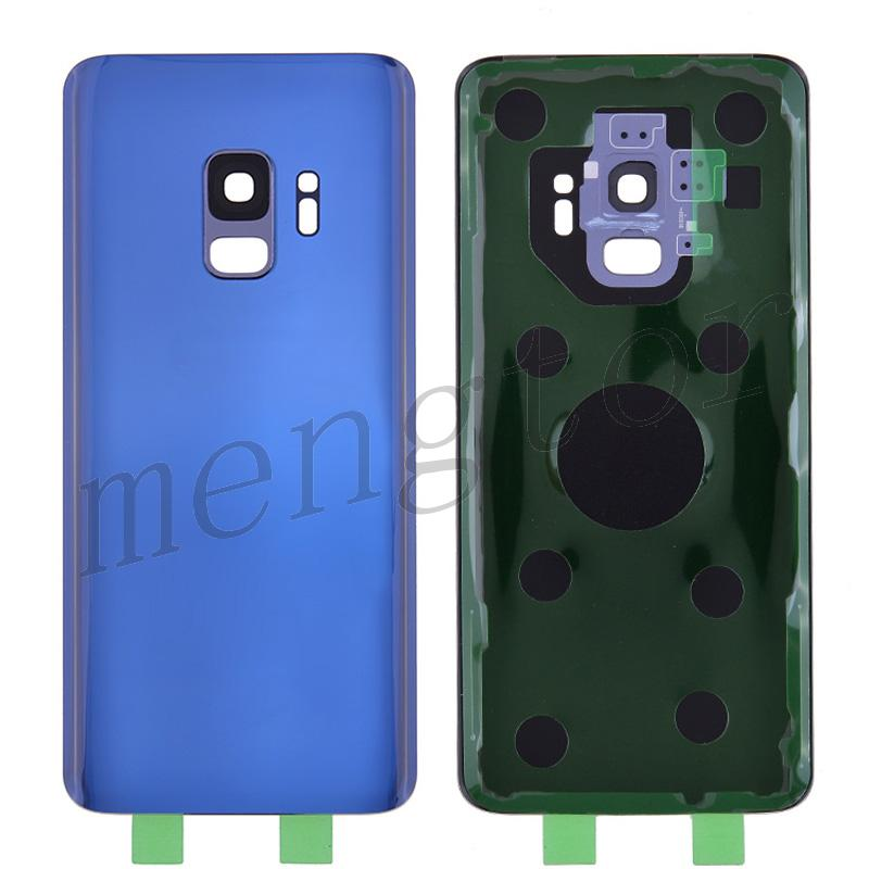 Back Cover Battery Door with Camera Glass Lens and Cover for Samsung Galaxy S9 G960(With SAMSUNG and Galaxy S9 logo) - Blue