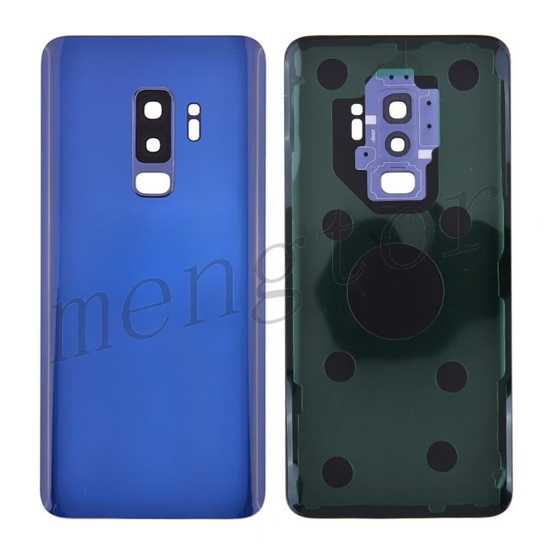 Back Cover Battery Door with Camera Glass Lens and Cover for Samsung Galaxy S9 Plus G965(With SAMSUNG and Galaxy S9+ logo) - Blue