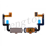 Home Button with Flex Cable,Connector and Fingerprint Scanner Sensor for Samsung Galaxy A7 2017 A720 - Gold