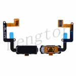 Home Button with Flex Cable,Connector and Fingerprint Scanner Sensor for Samsung Galaxy A7 2017 A720 - Black