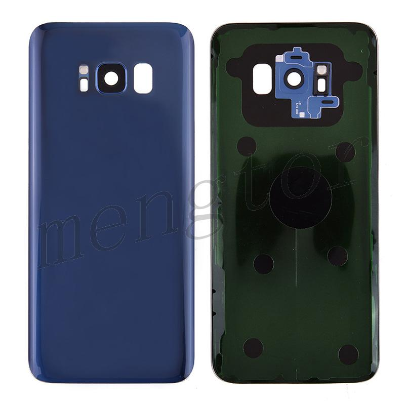 Back Cover Battery Door with Camera Glass Lens and Cover for Samsung Galaxy S8 G950 - Blue