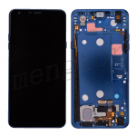 LCD Screen Display with Digitizer Touch Panel and Frame & Small Parts for LG Stylo 4 Q710 Q710MS(Blue Frame)(Super High Quality) - Black