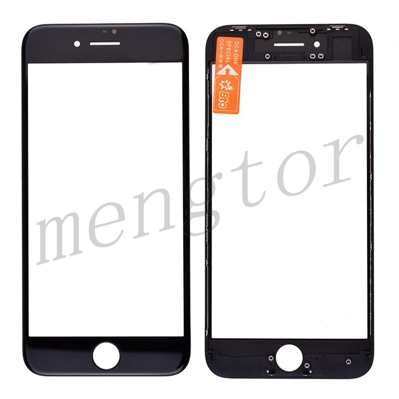 3 in 1 Front Screen Glass Lens with LCD Digitizer Frame and OCA for iPhone 8 (4.7 inches) - Black