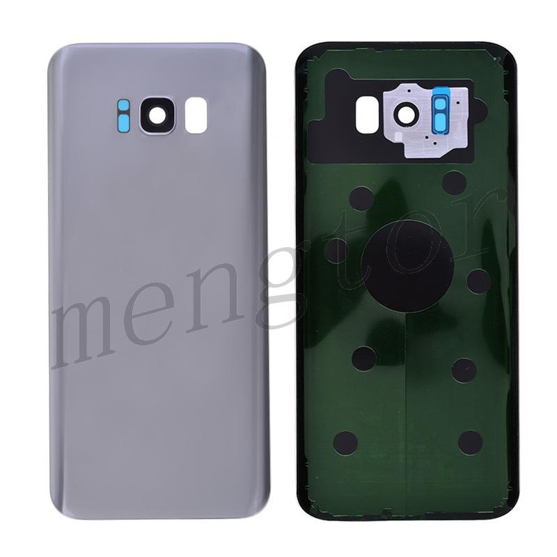 Back Cover with Camera Glass Lens and Adhesive Tape for Samsung Galaxy S8 Plus G955 - Silver