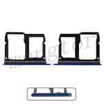 Sim Card Tray and MicroSD Card Tray for LG Stylo 4 Q710/ Q7+ Q610 - Blue