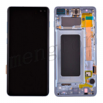 LCD Screen Display with Digitizer Touch Panel and Bezel Frame for Samsung Galaxy S10 Plus G975(Blue Frame) - Black