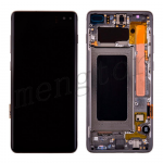 LCD Screen Display with Digitizer Touch Panel and Bezel Frame for Samsung Galaxy S10 Plus G975(Black Frame) - Black