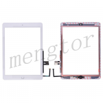 Touch Screen Digitizer With Home Button and Home Button Flex Cable for iPad 6(2018) A1893 A1954(High Quality) - White