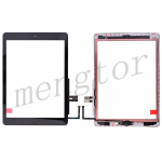 Touch Screen Digitizer With Home Button and Home Button Flex Cable for iPad 6(2018) A1893 A1954(High Quality) - Black