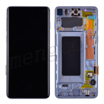 LCD Screen Display with Digitizer Touch Panel and Bezel Frame for Samsung Galaxy S10 G973(Blue Frame) - Black